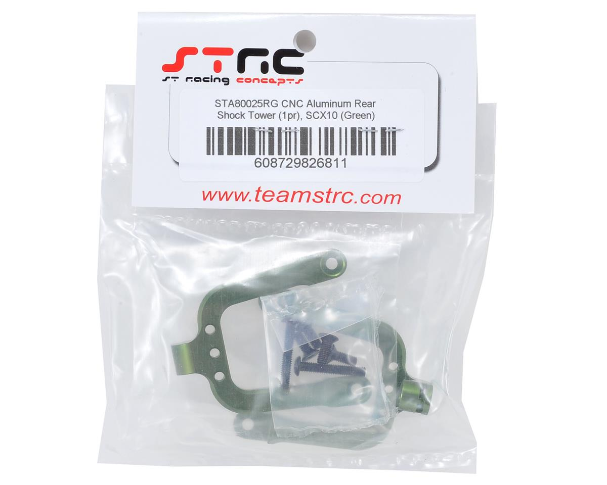 SCX10 Aluminum Rear Shock Tower Set (2) (Green) by ST Racing Concepts