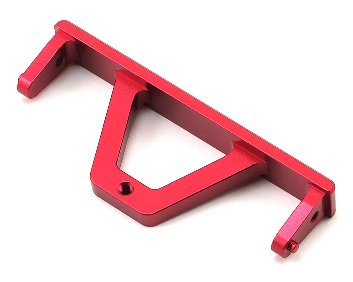 ST Racing Concepts SCX10 Aluminum Rear Chassis Rail Brace (Red)