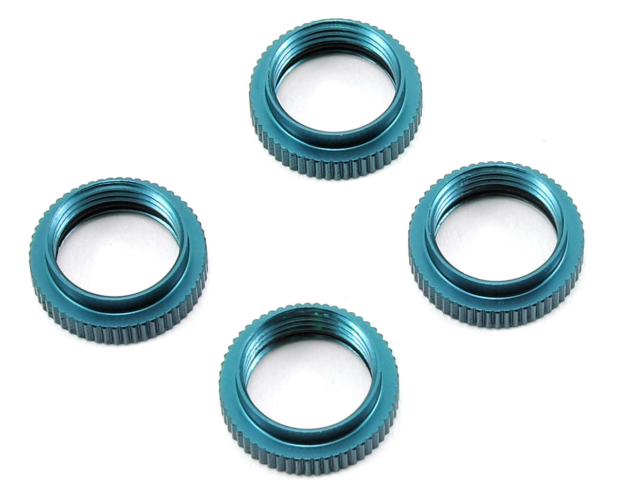 ST Racing Concepts Yeti Aluminum Shock Collar w/O-Ring (4) (Blue)
