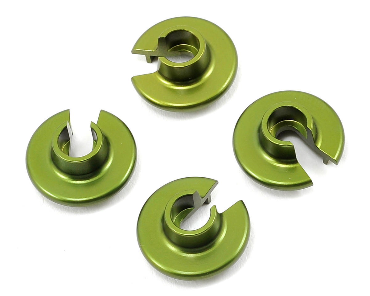 ST Racing Concepts Aluminum Shock Spring Retainers (4) (Green)