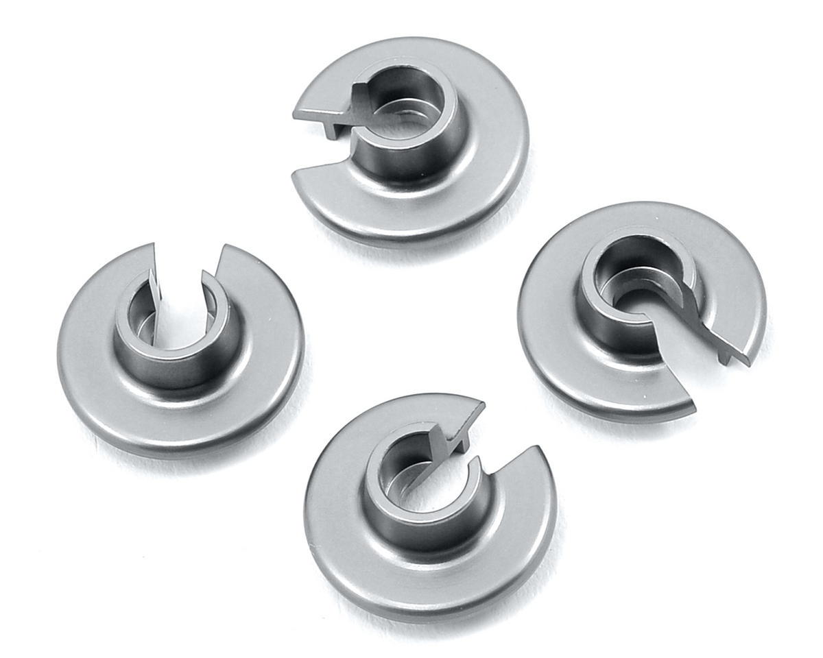 ST Racing Concepts Aluminum Shock Spring Retainers (4) (Silver)