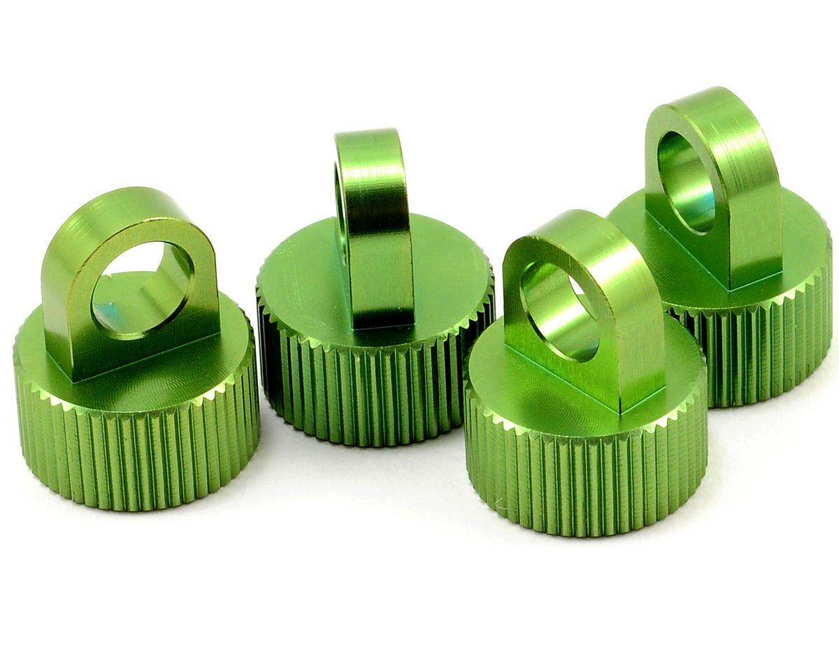 ST Racing Concepts Aluminum Shock Cap Set (Green) (4)