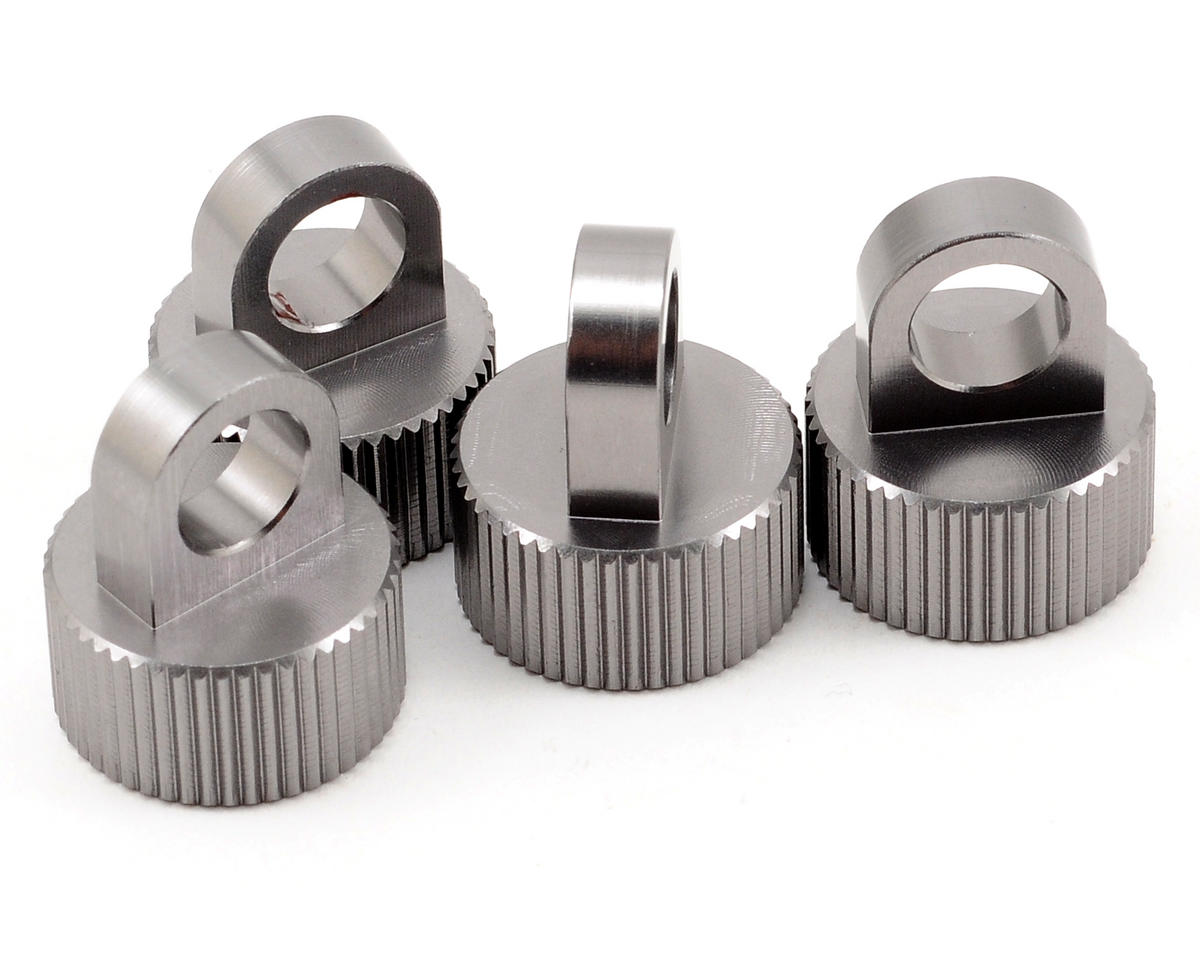ST Racing Concepts Aluminum Shock Cap Set (Gun Metal) (4)