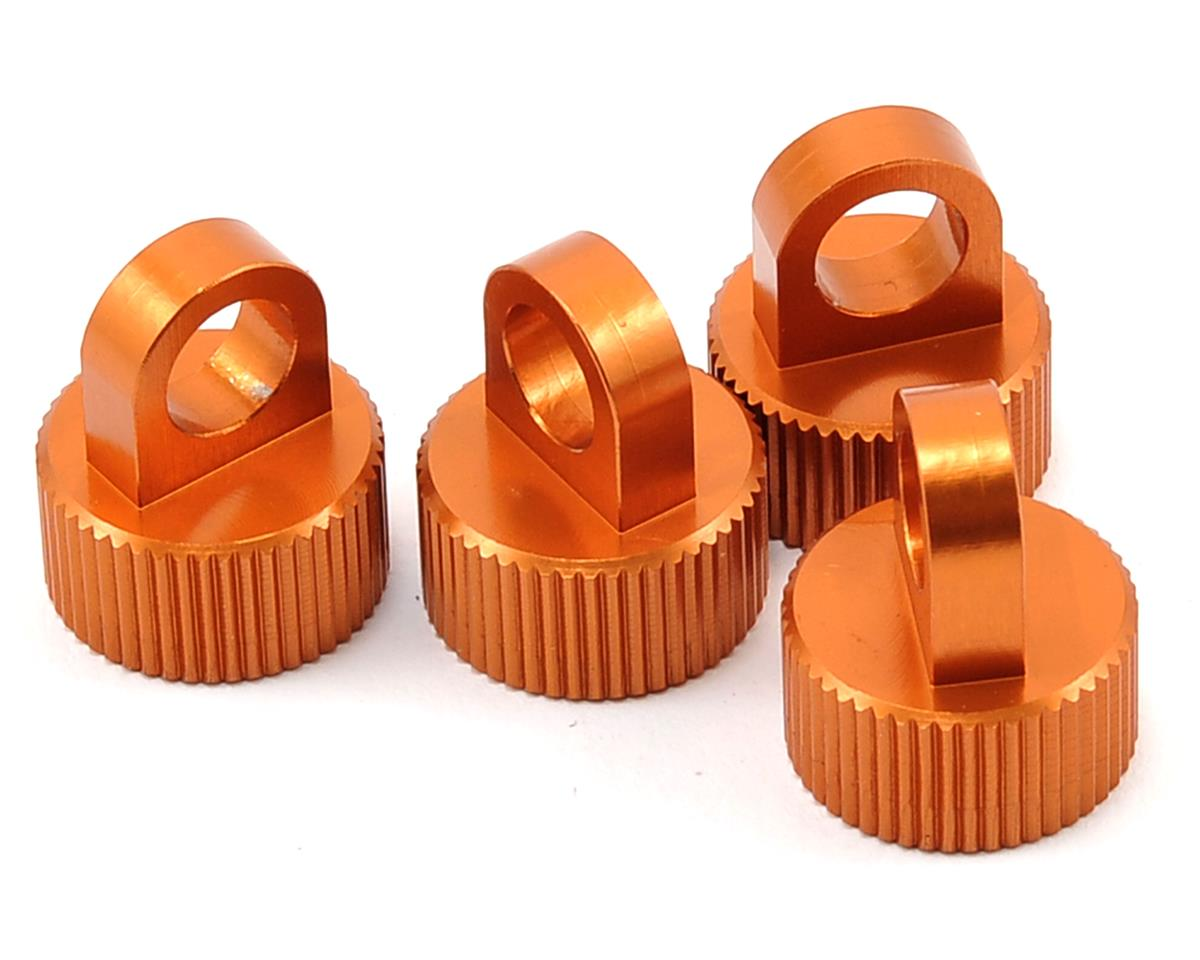 ST Racing Concepts Aluminum Shock Cap Set (Orange) (4)