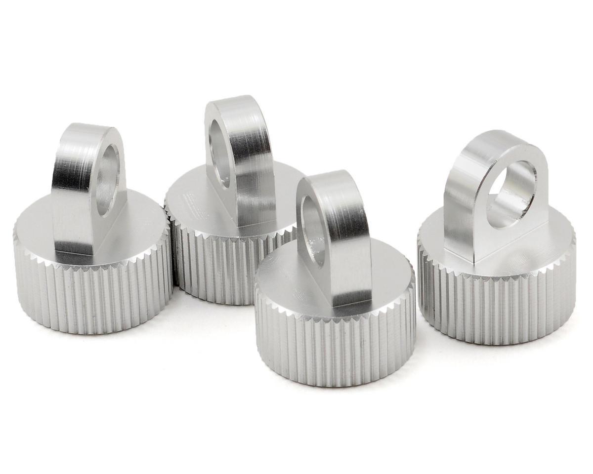 Aluminum Shock Cap Set (Silver) (4) by ST Racing Concepts