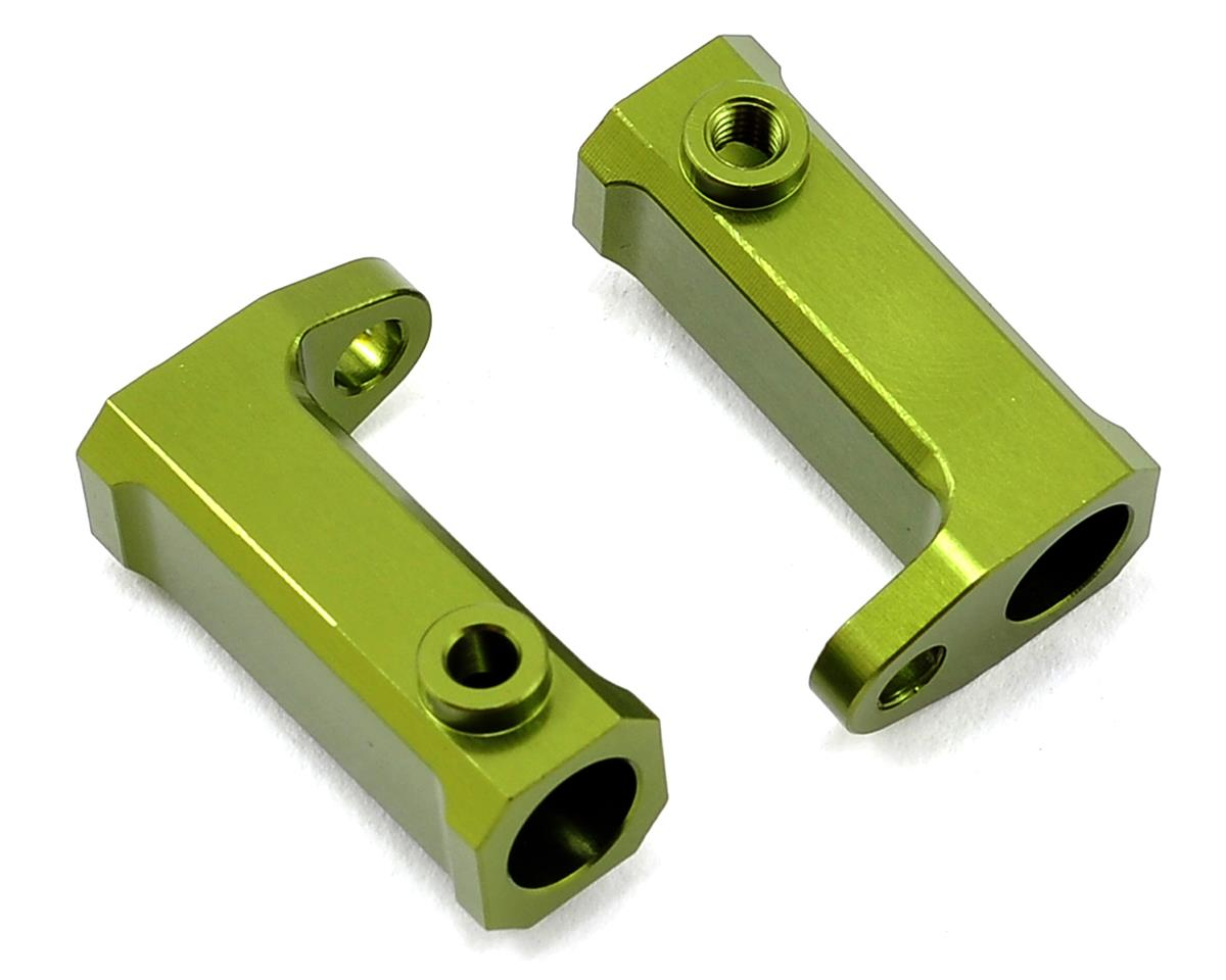 SCX10 Aluminum Side Rail Mount Brackets (2) (Green) by ST Racing Concepts