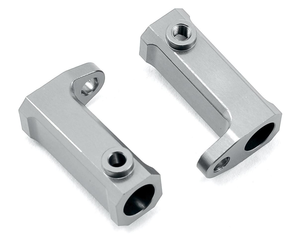SCX10 Aluminum Side Rail Mount Brackets (2) (Silver) by ST Racing Concepts