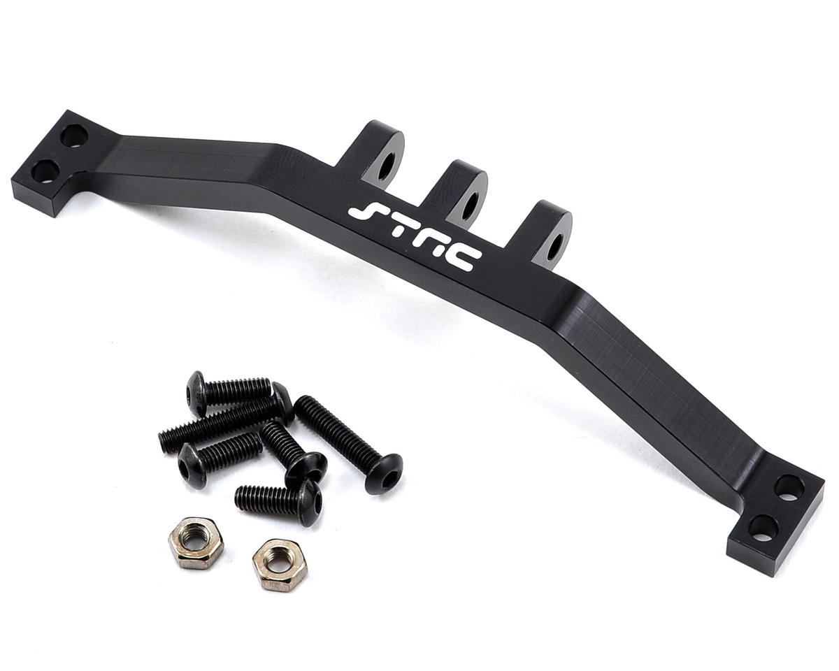 SCX10 Aluminum Rear Upper Link Mount Bracket (Black) by ST Racing Concepts