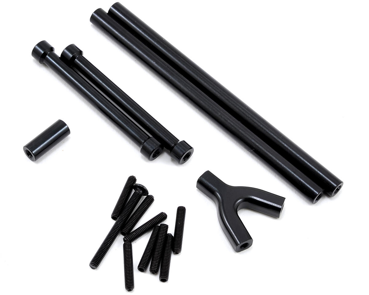 SCX10 Aluminum Front & Rear Upper Suspension Link Set (Black) by ST Racing Concepts