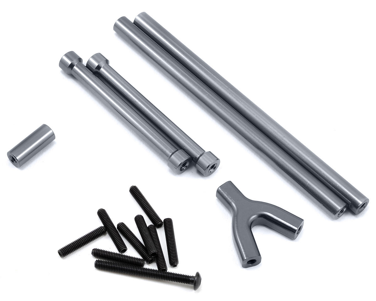 SCX10 Aluminum Upper Suspension Link Set (4) (Gun Metal) by ST Racing Concepts