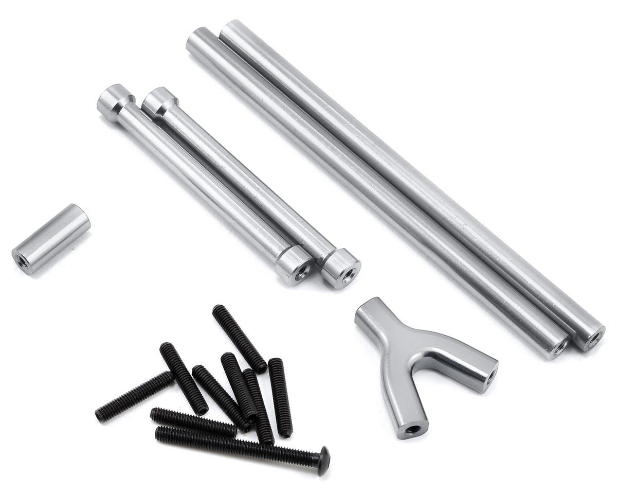 ST Racing Concepts SCX10 Aluminum Upper Suspension Link Set (4) (Silver)
