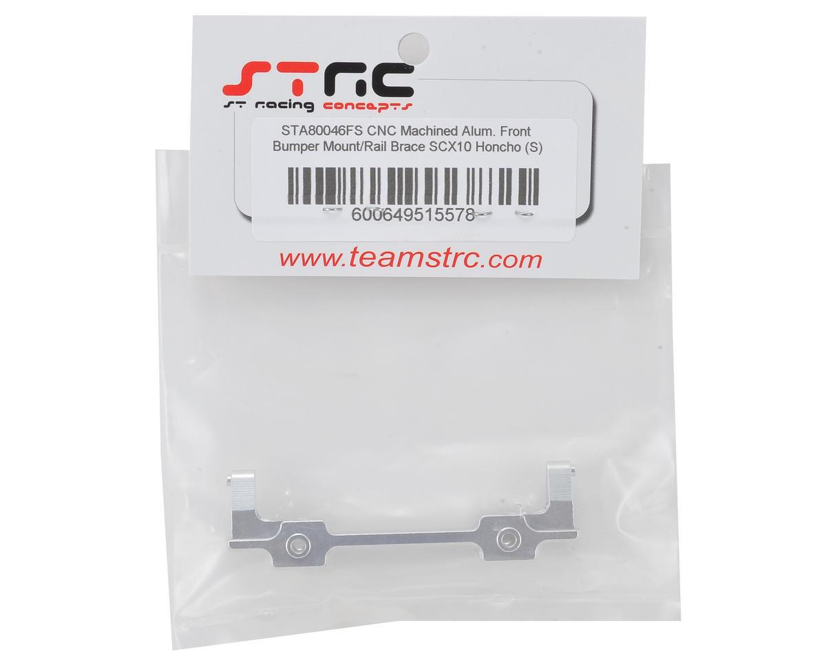 SCX10 Honcho Aluminum Front Bumper Mount (Silver) by ST Racing Concepts