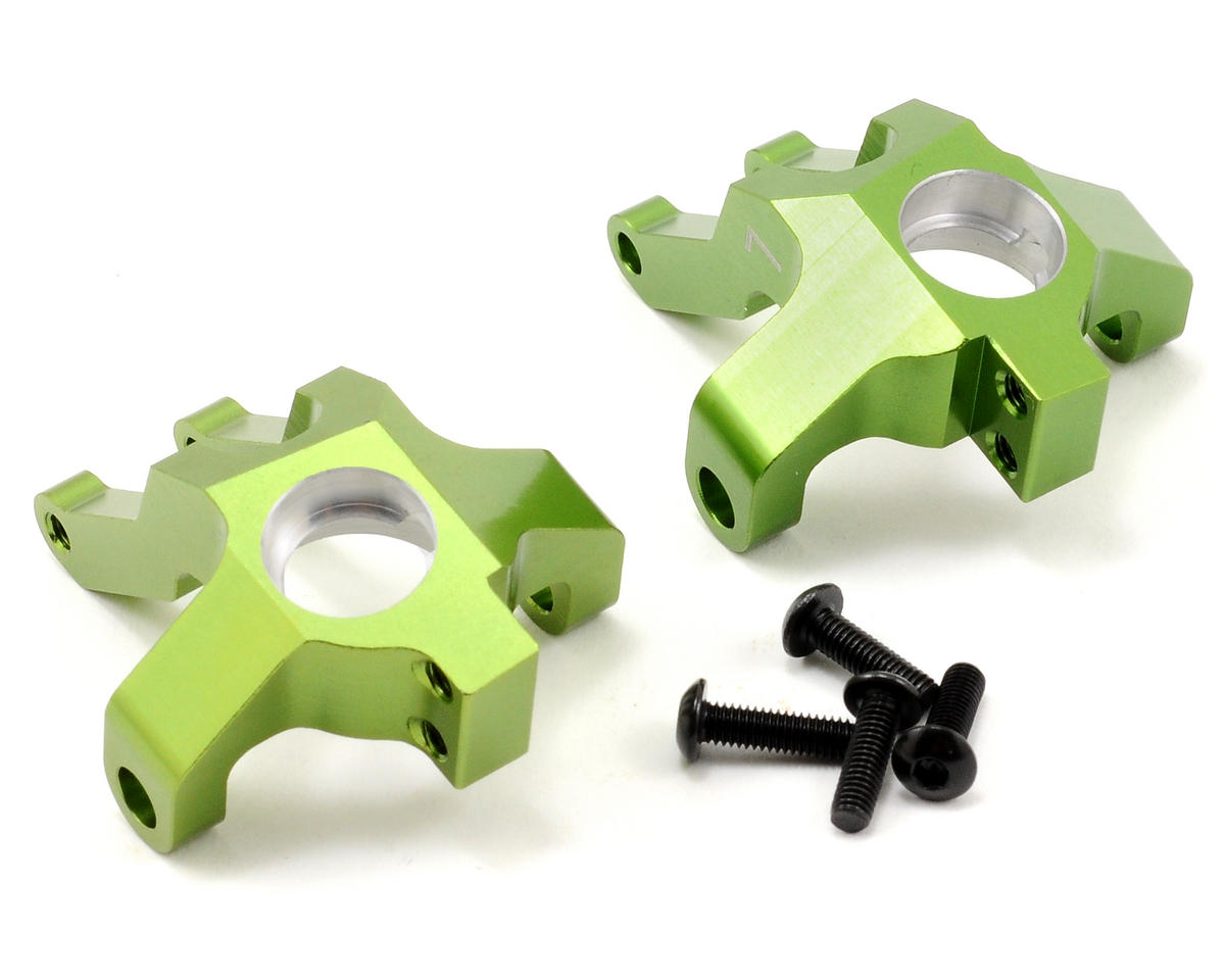 ST Racing Concepts Aluminum Steering Knuckle Set (Green) (2)