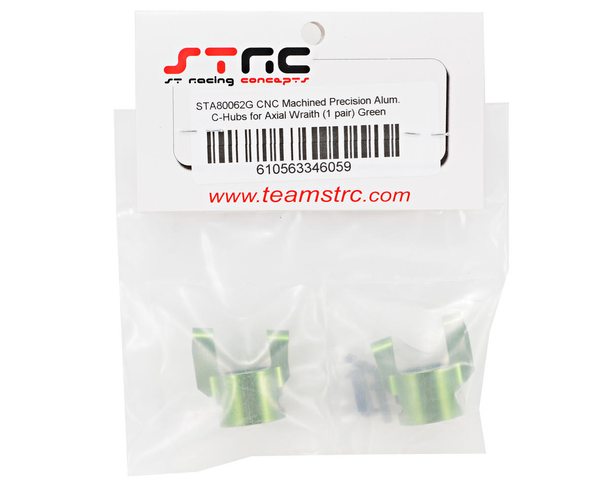 Aluminum C-Hub Set (Green) (2) by ST Racing Concepts