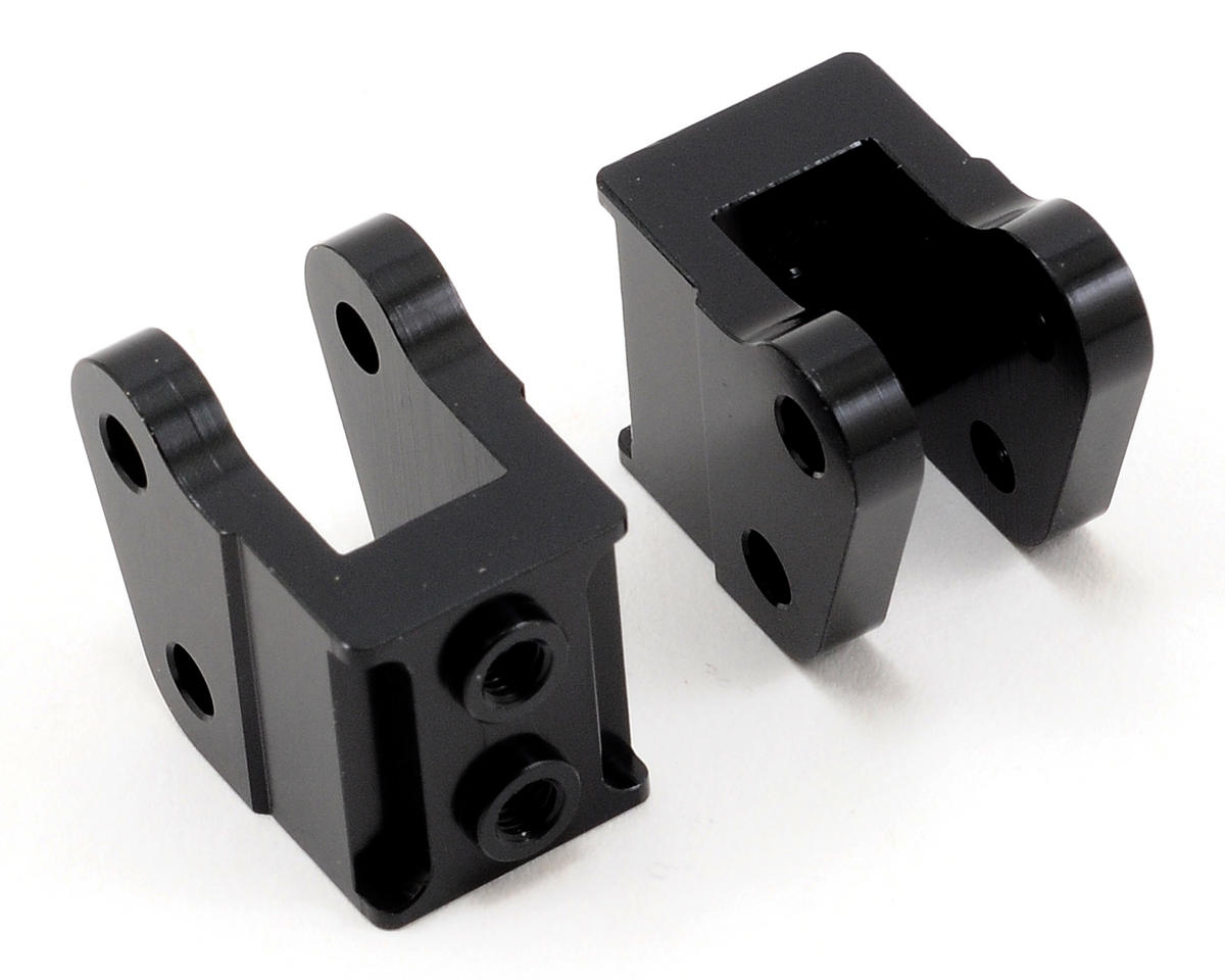 Aluminum HD Bottom Shock Mount Set (2) (Black) by ST Racing Concepts