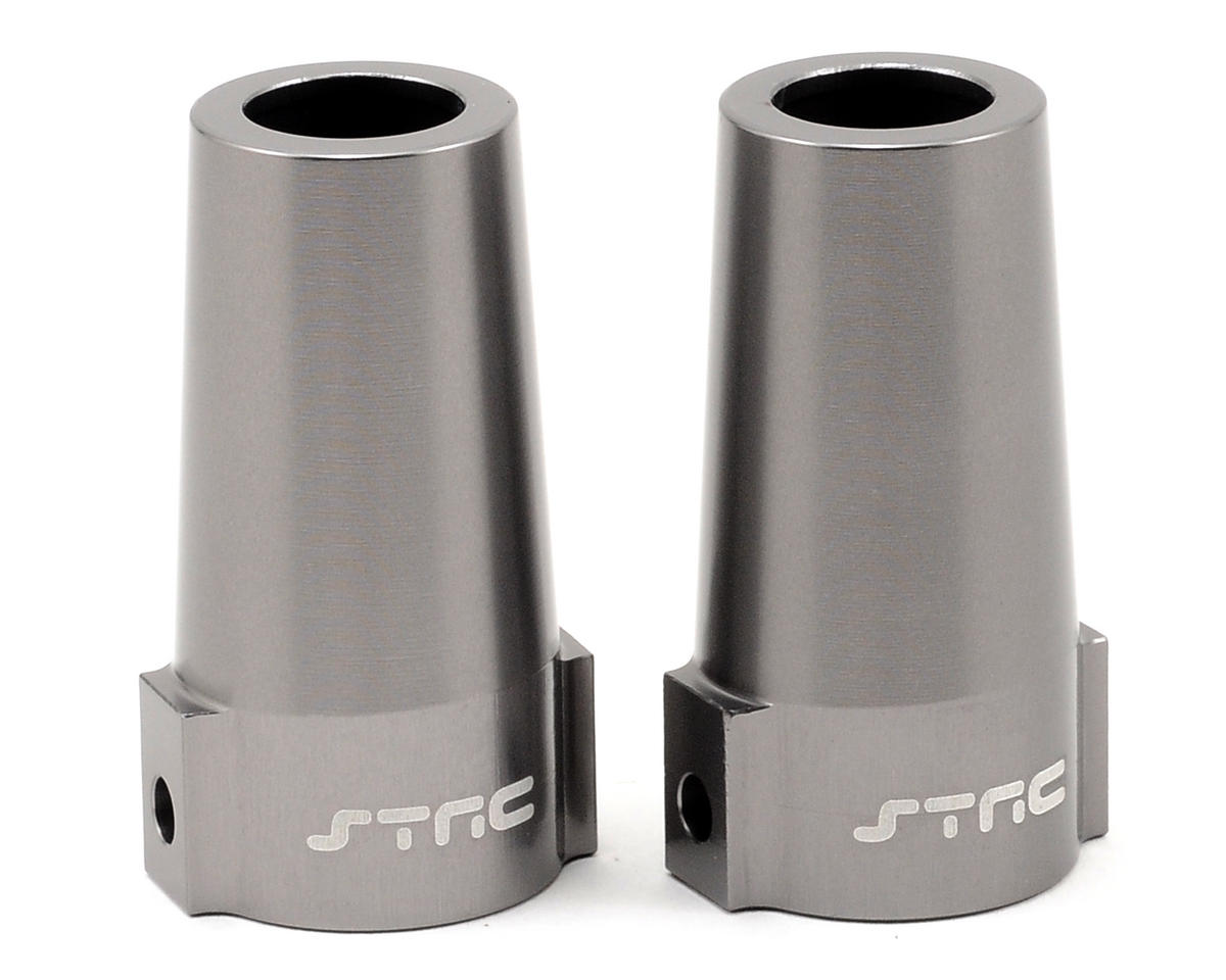 ST Racing Concepts Aluminum Rear Lock Out Set (Gun Metal) (2)