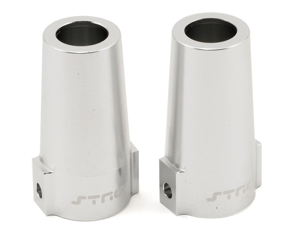 ST Racing Concepts Aluminum Rear Lock Out Set (Silver) (2)