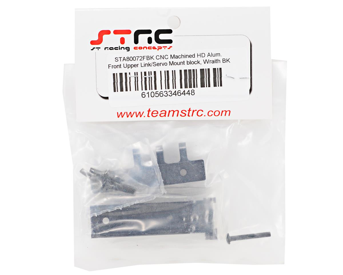 ST Racing Concepts Aluminum HD Front Servo Mount Block w/Upper Link Mount (Black)