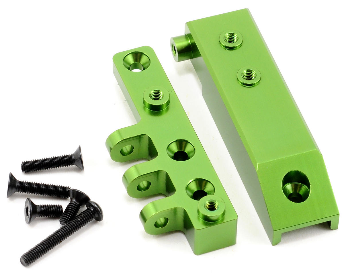 Aluminum HD Front Servo Mount Block (Green) by ST Racing Concepts