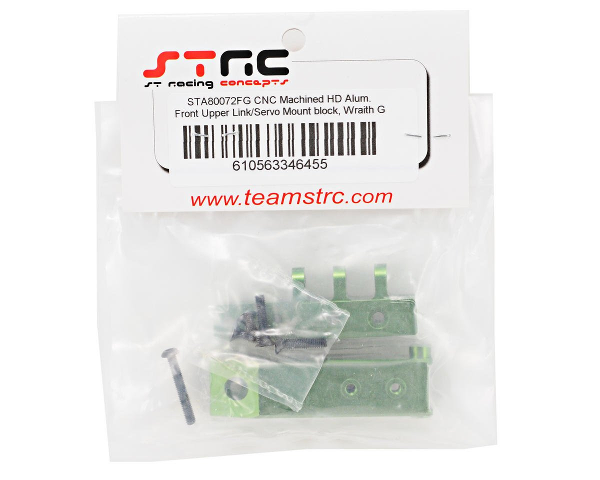ST Racing Concepts Aluminum HD Front Servo Mount Block (Green)