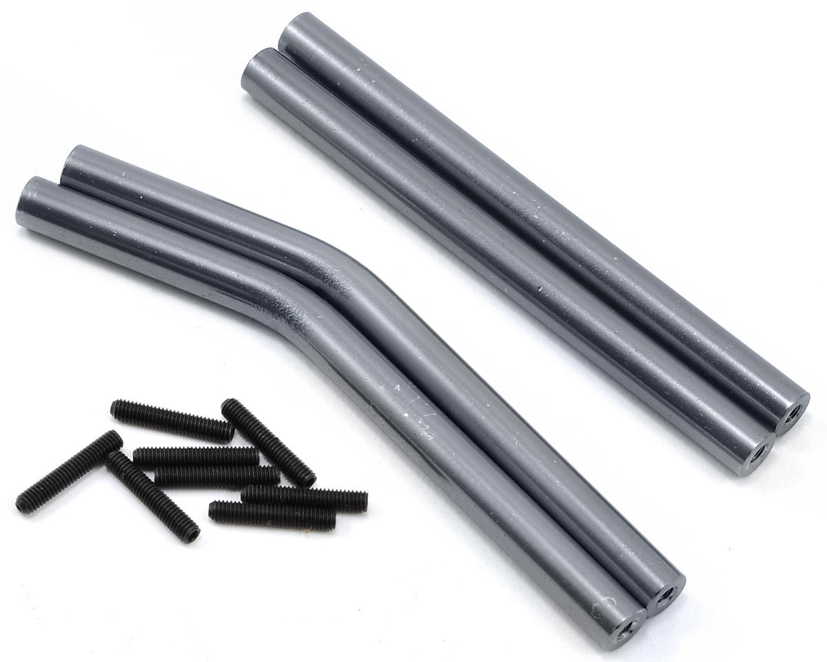 Wraith Aluminum Upper & Lower Suspension Link Set (Gun Metal) by ST Racing Concepts