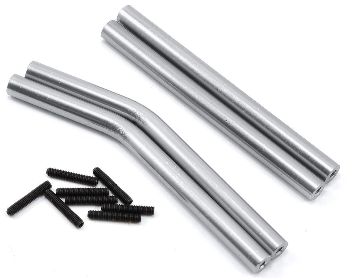 Wraith Aluminum Upper & Lower Suspension Link Set (Silver) by ST Racing Concepts