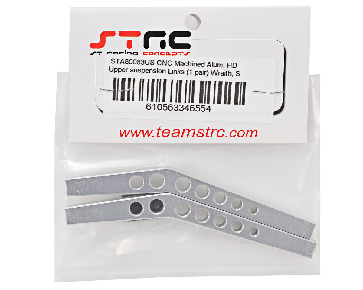 Aluminum HD Upper Suspension Link Set (Silver) (2) by ST Racing Concepts