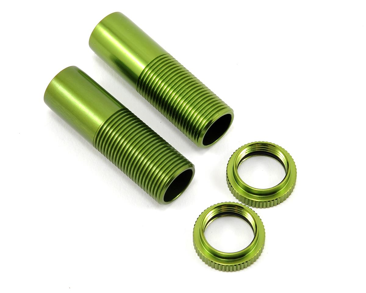 ST Racing Concepts Front Shock Body & Spring Collar Set (Green) (2)