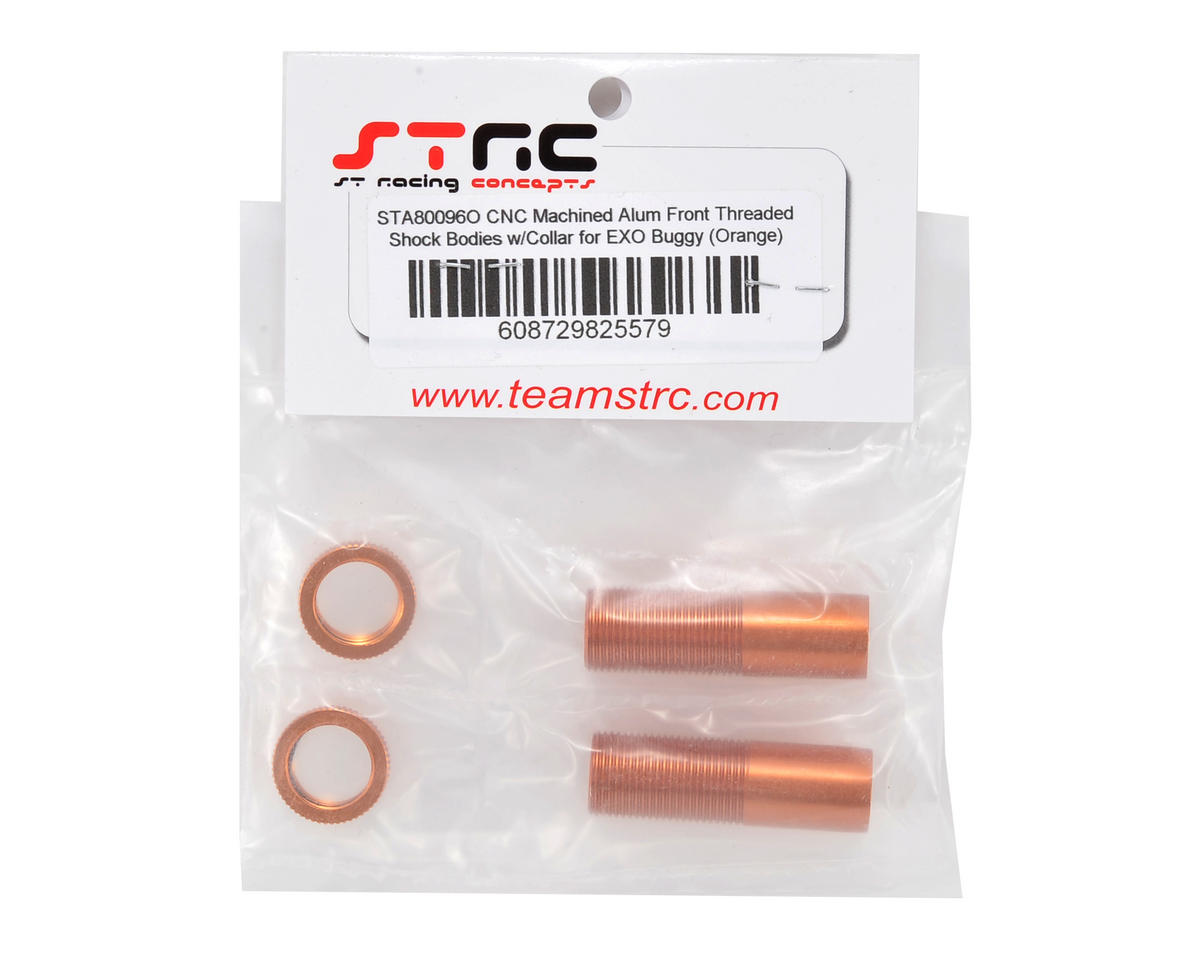 ST Racing Concepts Front Shock Body & Spring Collar Set (Orange) (2)