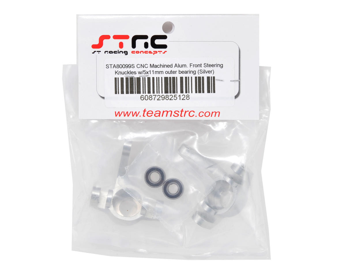 ST Racing Concepts Front Steering Knuckle Set w/Outer Bearings (Silver) (2)