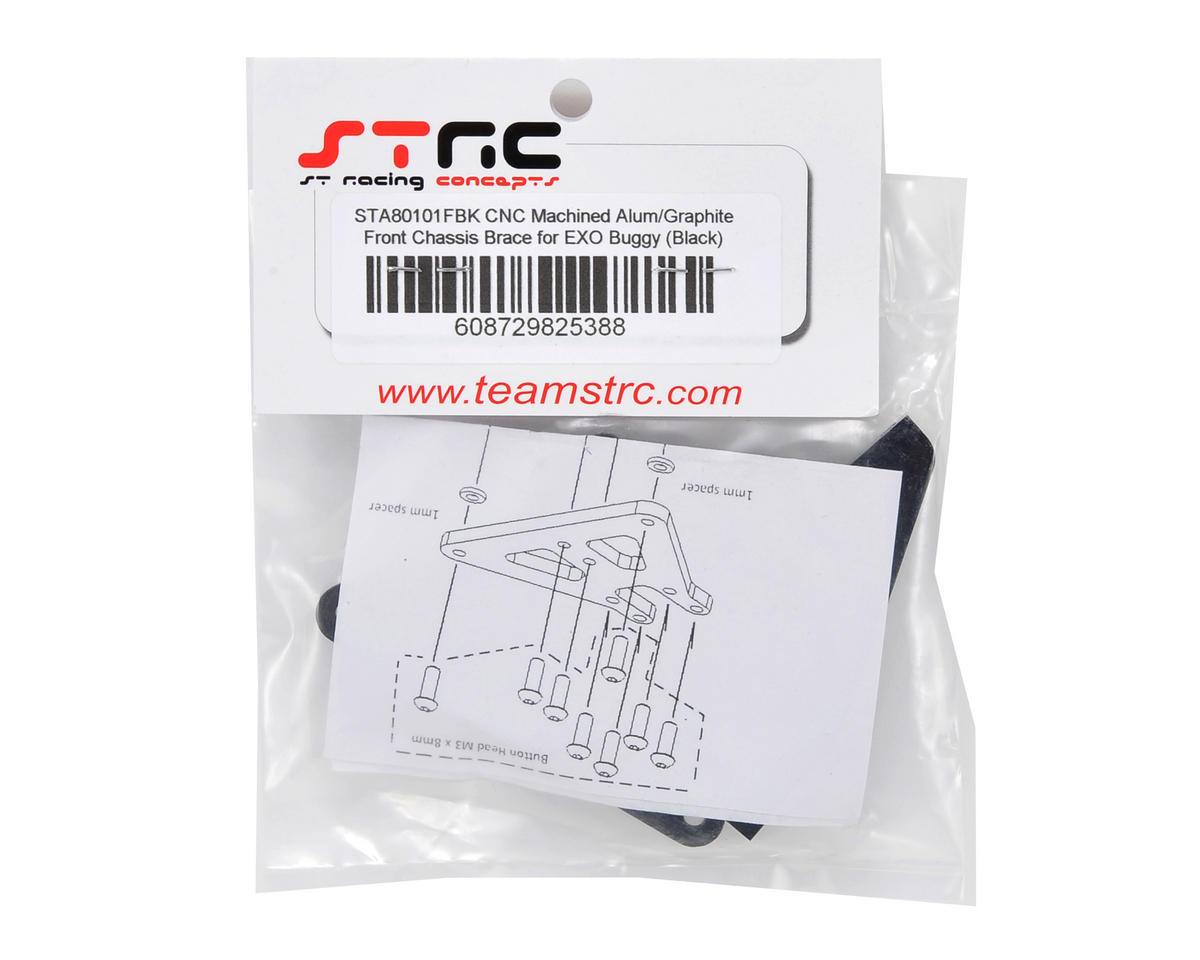 ST Racing Concepts Aluminum & Carbon Fiber Front Chassis Brace Kit (Black)