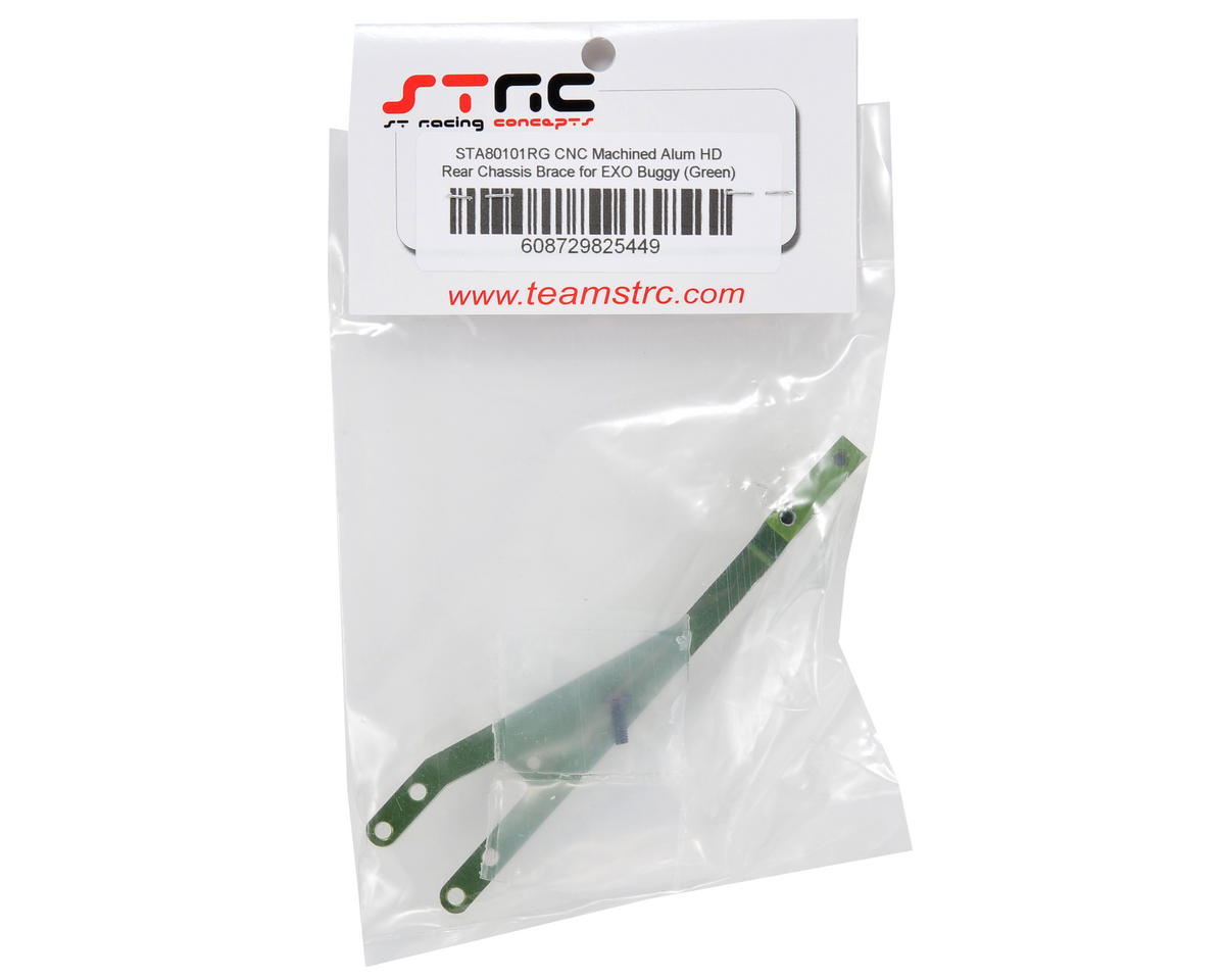 ST Racing Concepts Aluminum HD Rear Chassis Brace (Green)