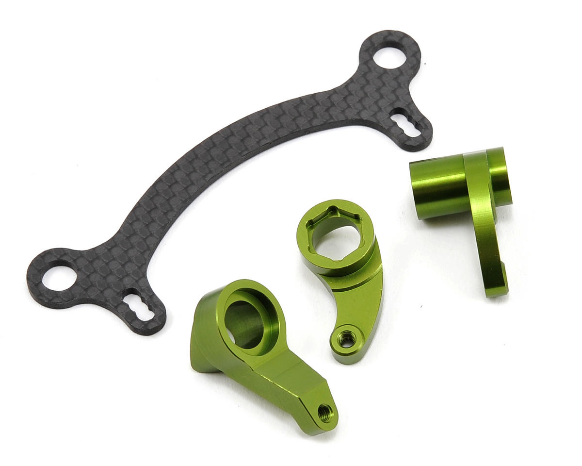 ST Racing Concepts Aluminum HD Steering System w/Graphite Steering Rack (Green)