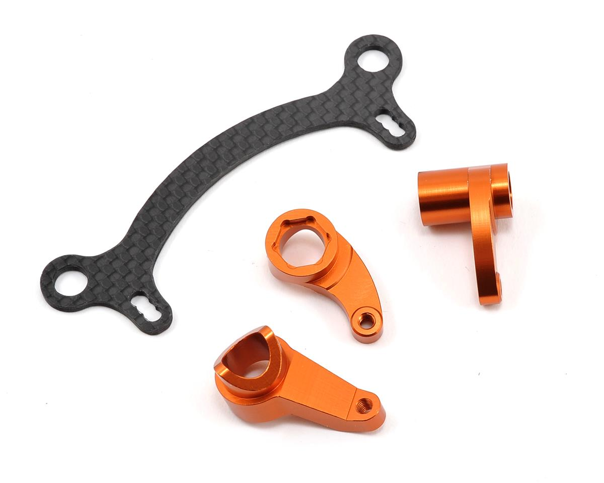Aluminum HD Steering System w/Graphite Steering Rack (Orange) by ST Racing Concepts