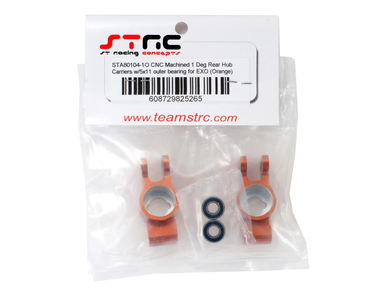 1° Rear Hub Carrier Set w/5x11mm Outer Bearings (Orange) by ST Racing Concepts