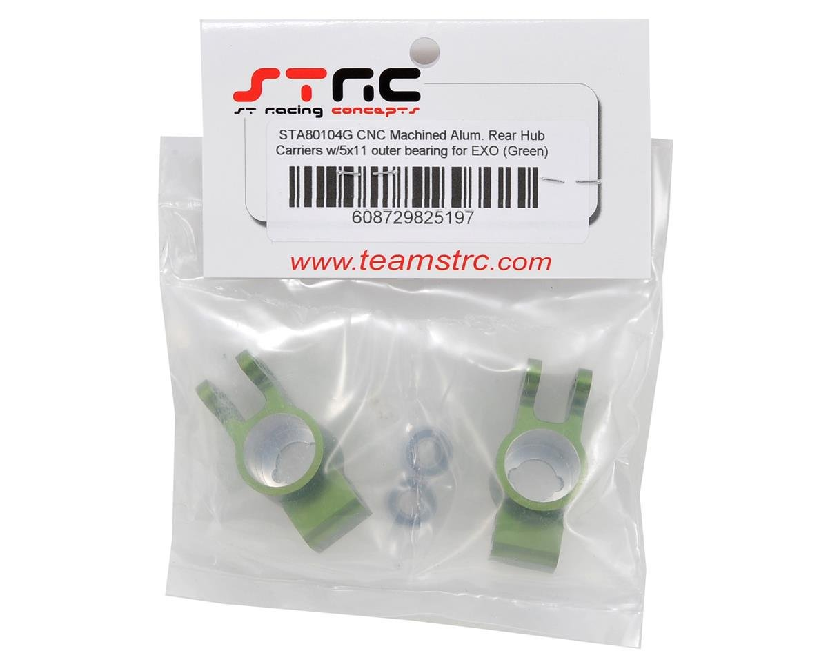 Rear Hub Carrier Set w/Outer Bearings (Green) by ST Racing Concepts