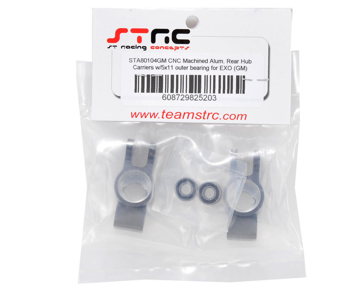 ST Racing Concepts Rear Hub Carrier Set w/Outer Bearings (Gun Metal)