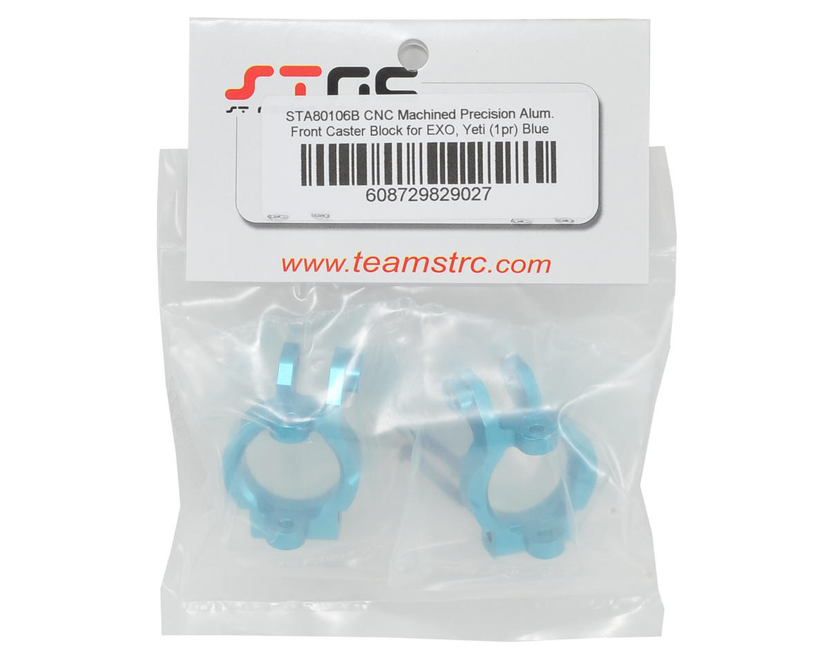 ST Racing Concepts Front Caster Block Set (Blue) (2)