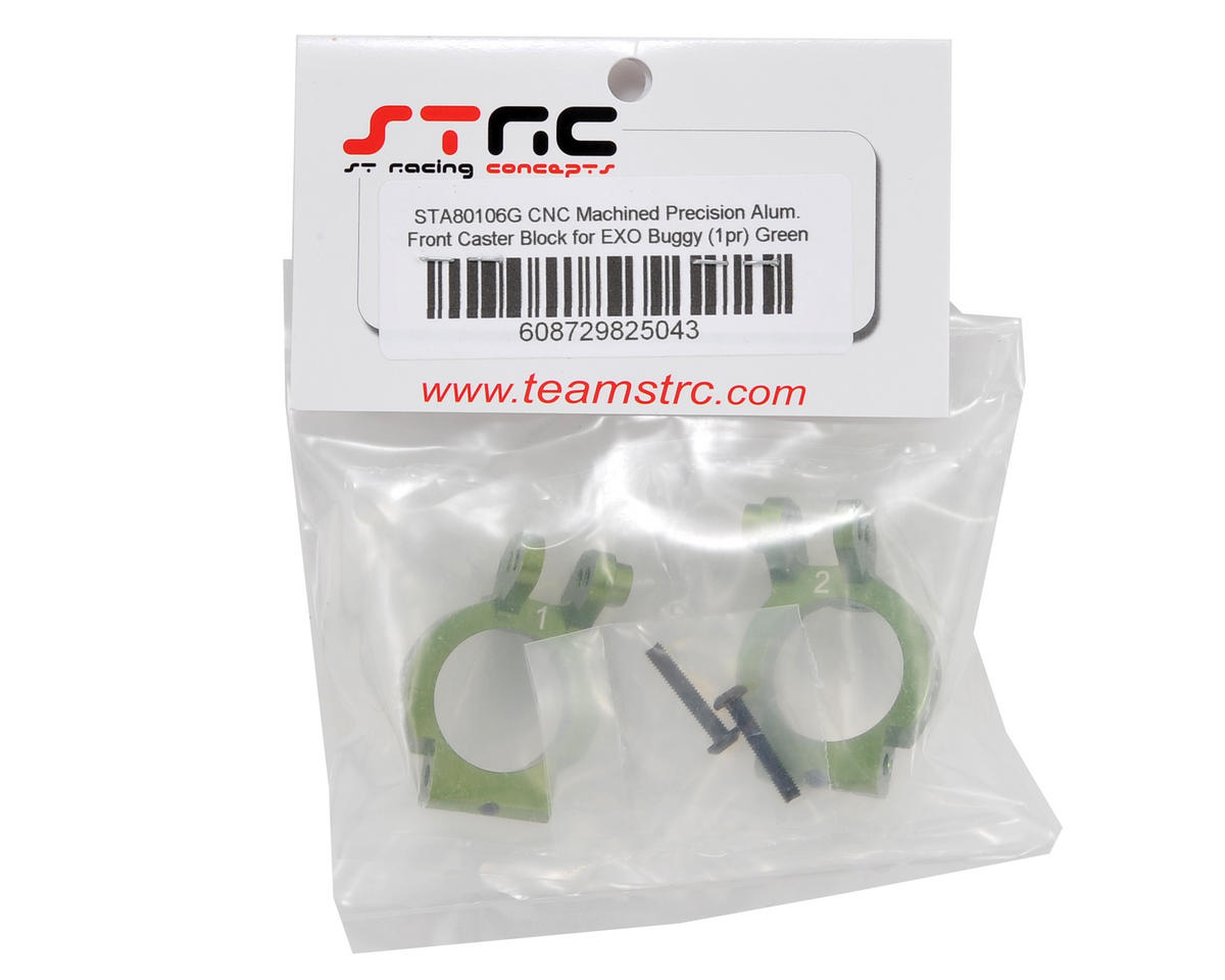 ST Racing Concepts Front Caster Block Set (Green) (2)
