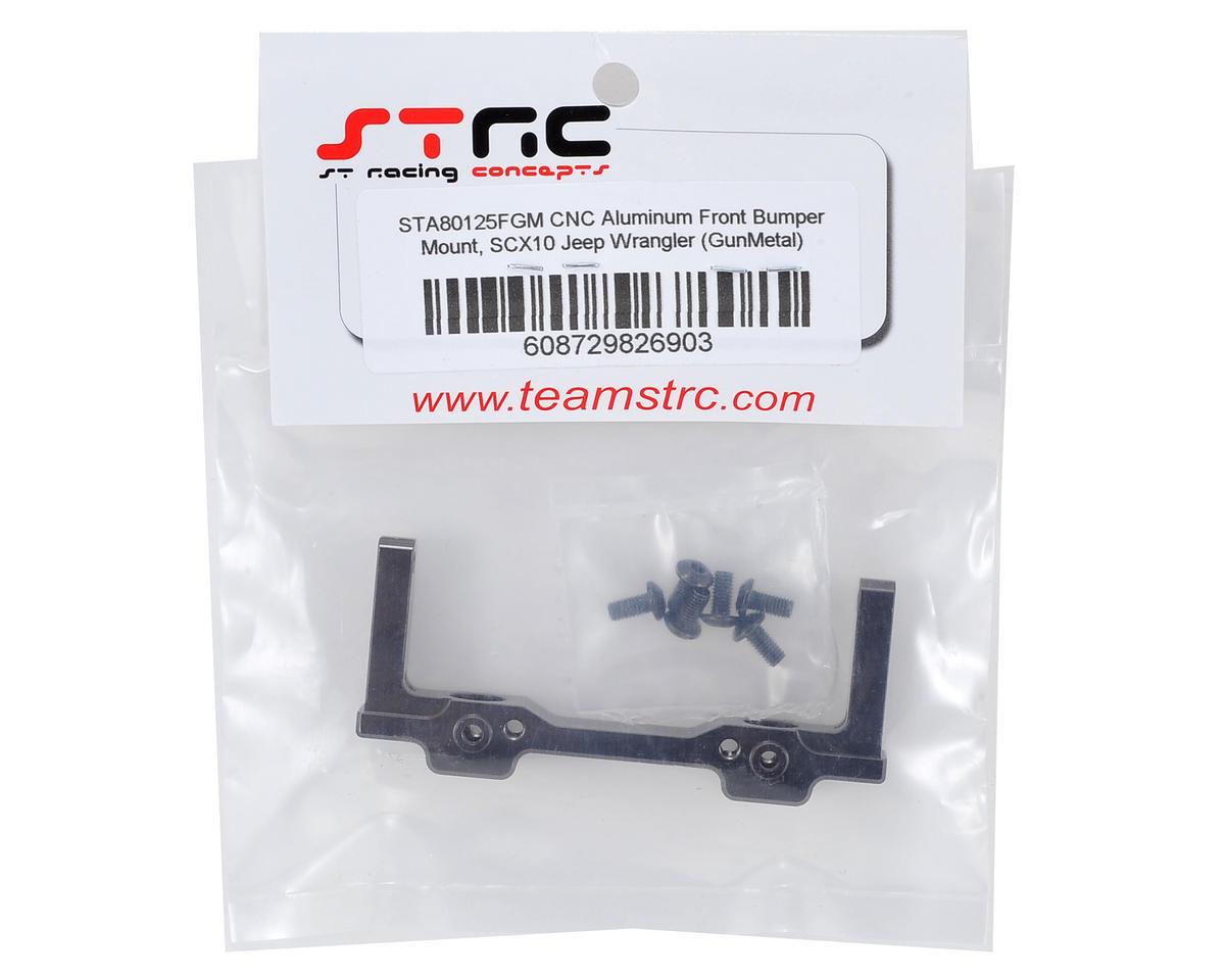 SCX10 Aluminum Jeep Wrangler Front Bumper Mount (Gun Metal) by ST Racing Concepts