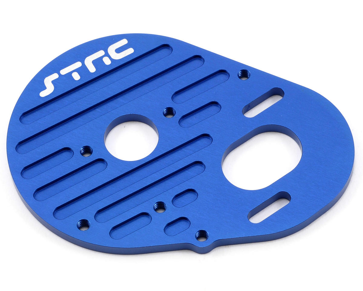 ST Racing Concepts Aluminum Heatsink Finned Motor Plate (Blue)