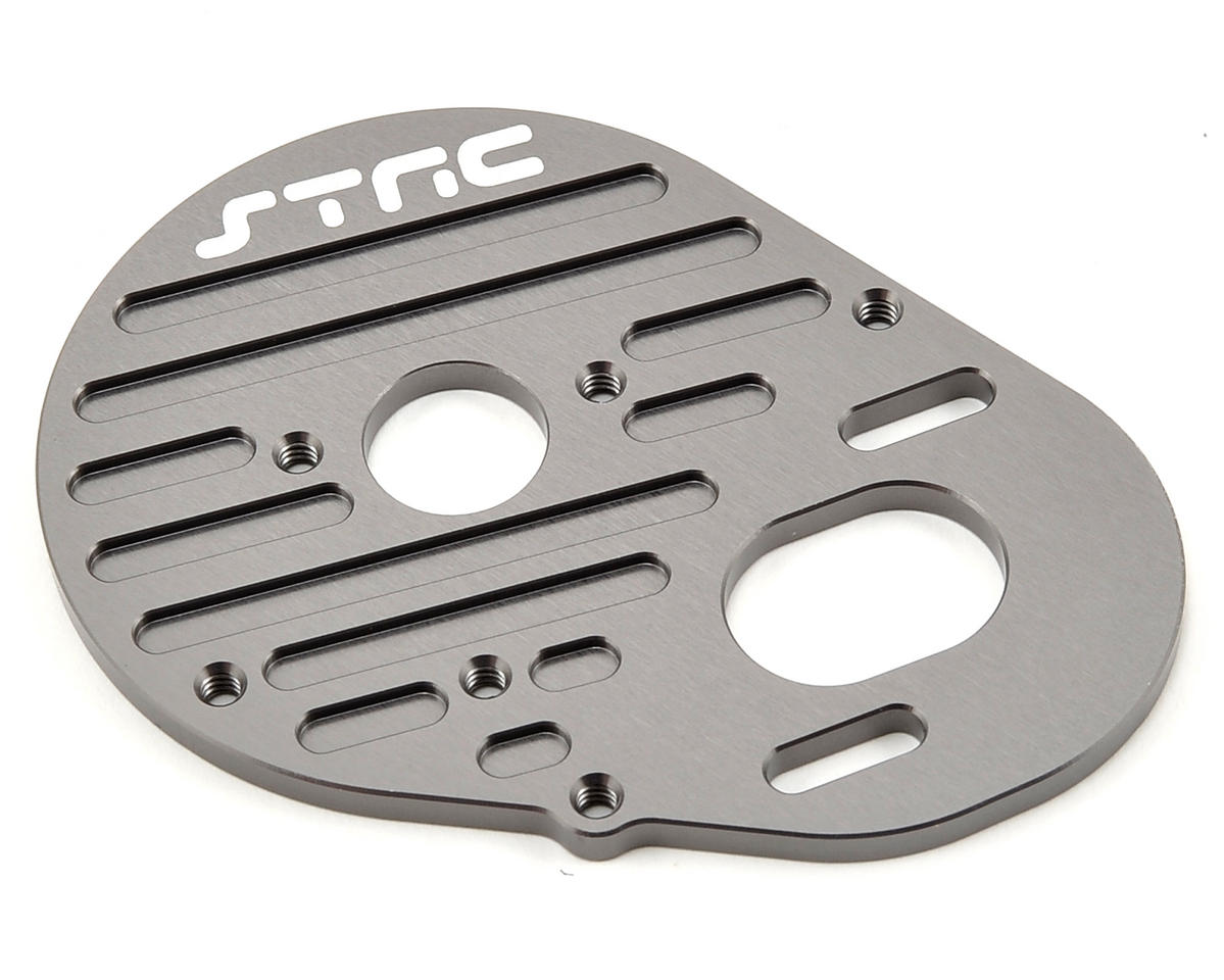 Aluminum Heatsink Finned Motor Plate (Gun Metal) by ST Racing Concepts