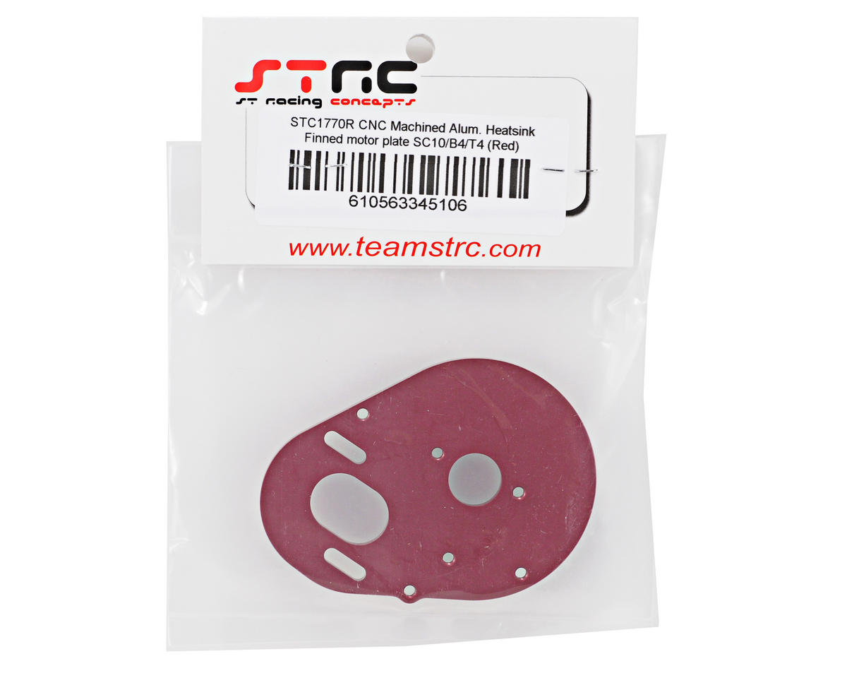 ST Racing Concepts Aluminum Heatsink Finned Motor Plate (Red)