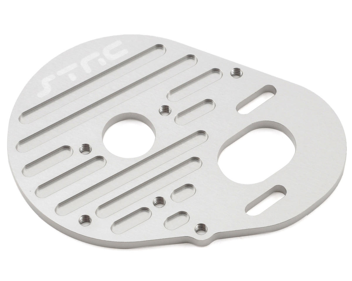 ST Racing Concepts Aluminum Heatsink Finned Motor Plate (Silver)