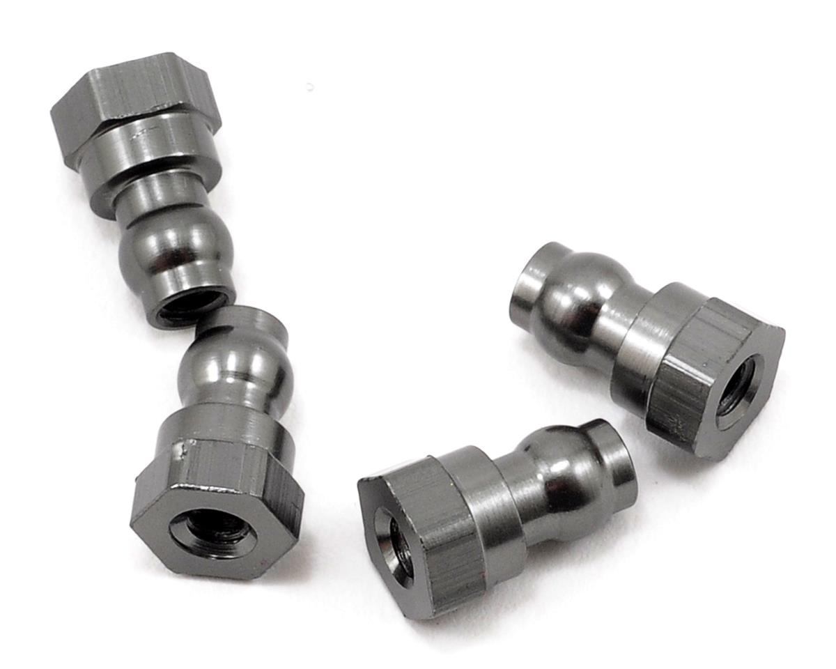 Aluminum HD Upper Shock Mount Bushing Set (Gun Metal) (4) by ST Racing Concepts