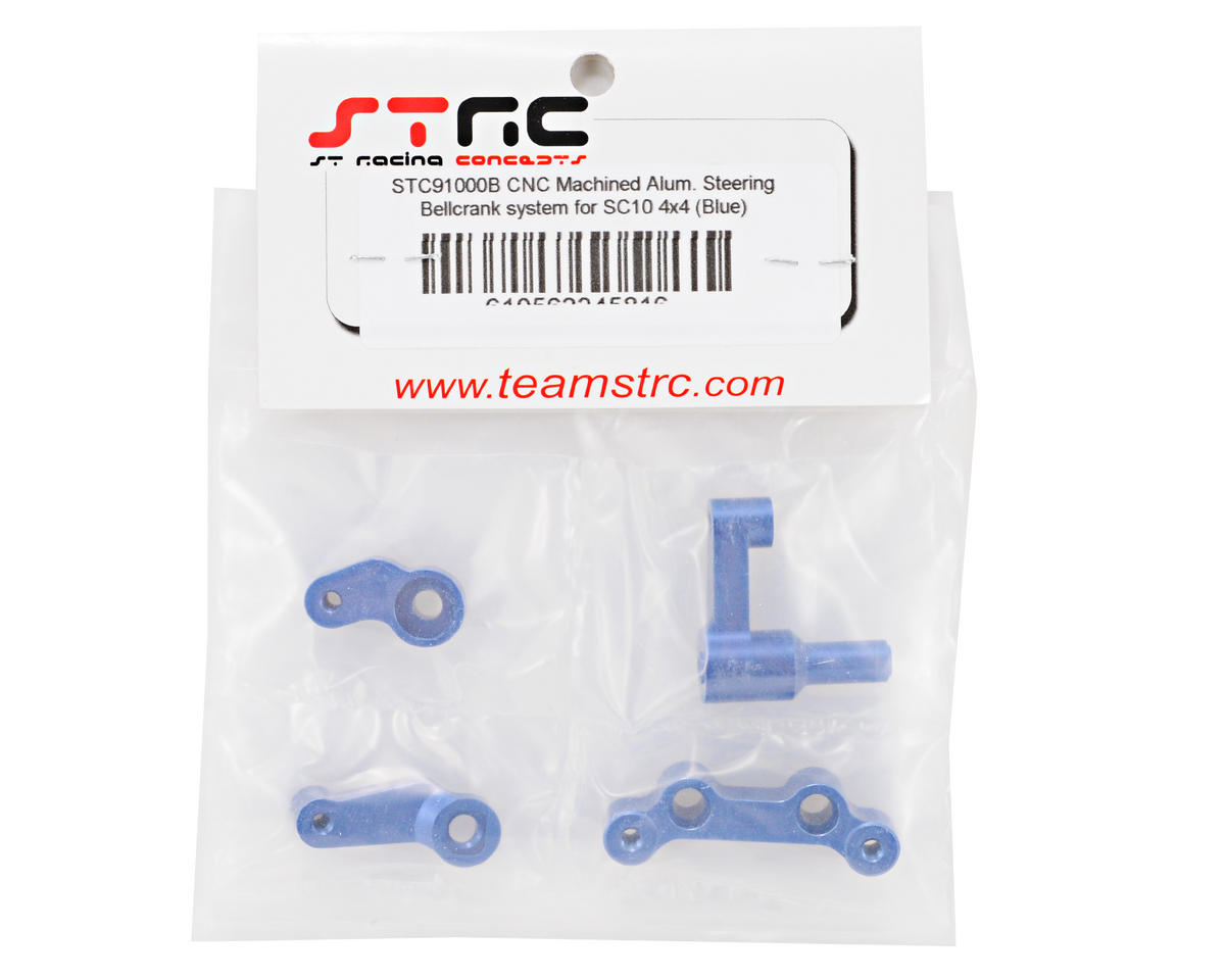 ST Racing Concepts Aluminum Steering Bellcrank System (Blue) (4)