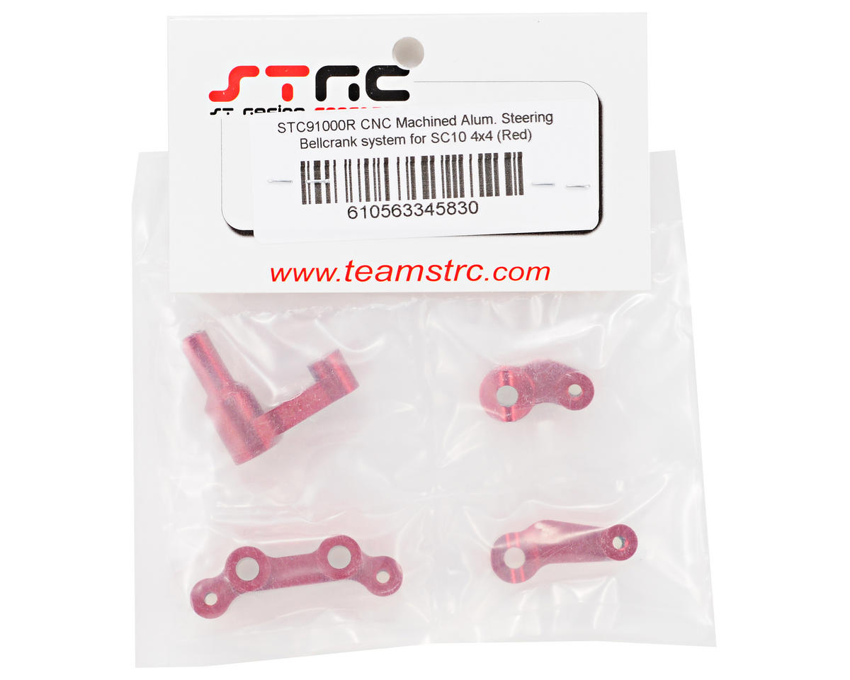 Aluminum Steering Bellcrank System (Red) (4) by ST Racing Concepts