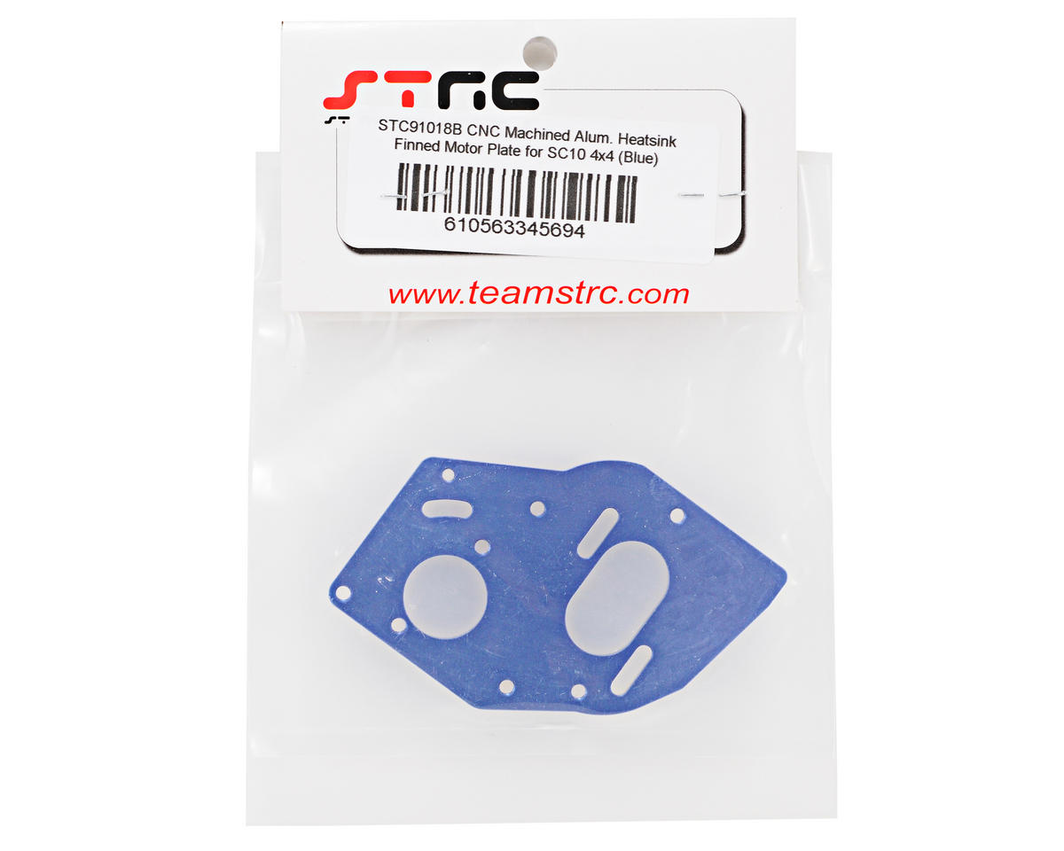 Aluminum Heatsink Motor Plate (Blue) by ST Racing Concepts