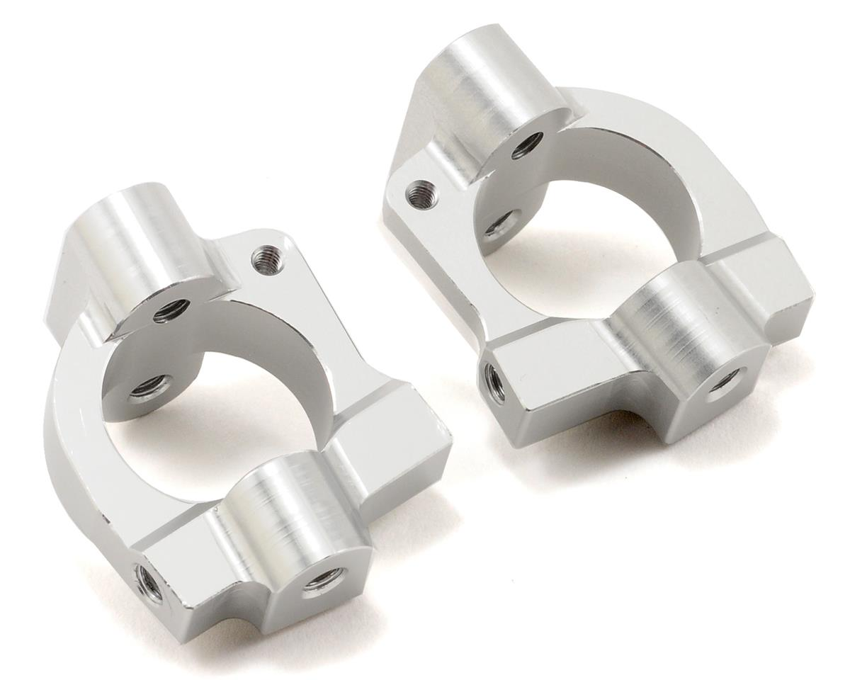 ST Racing Concepts Aluminum HD Caster Block Set (Silver) (2)