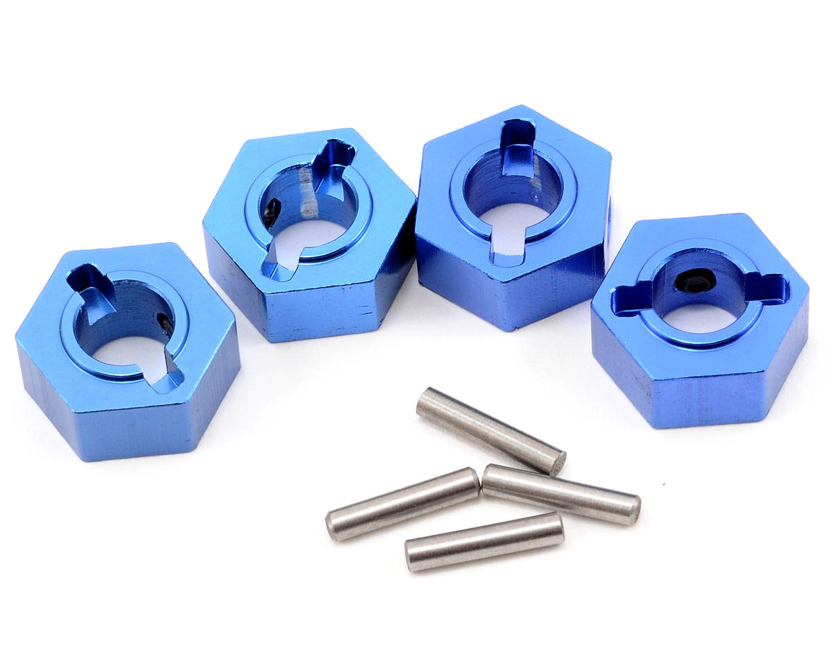Aluminum Hex Adapter & Drive Pin Set (Blue) (4) by ST Racing Concepts
